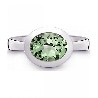 QUINN-ring-kvinder-sølv 925-ædelsten-Prasiolit-bredde 56-21402635