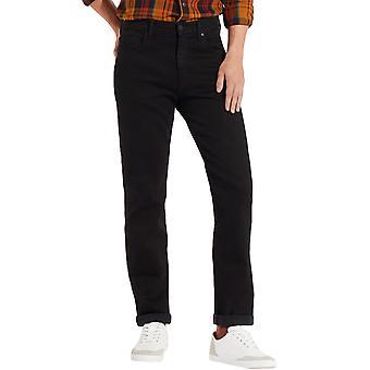 Wrangler Mens Arizona Straight-Cut Jeans Trousers - Black