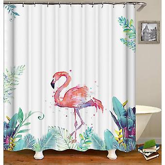 Art Painting Flamingo Shower Curtain