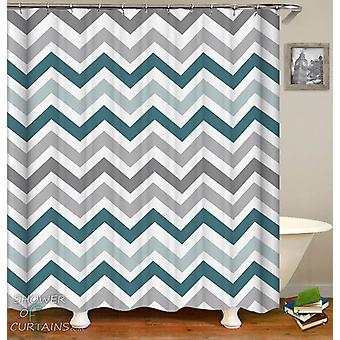 Grey and Blue Hues Shower Curtain