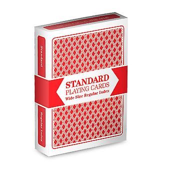 Red deck Brybelly speelkaarten (groot formaat, standaard index)