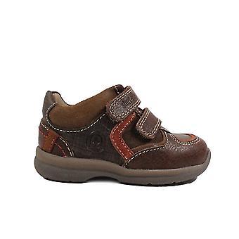 Startrite Brand Brown Leather Boys Rip Tape Casual Shoes