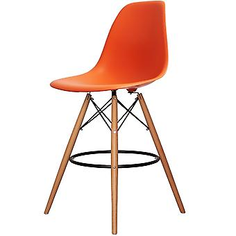 Charles Eames Stil Orange Kunststoff Bar Hocker