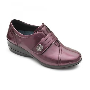 Padders Simone 3 Ladies Leather Wide (e/2e) Shoes Wine