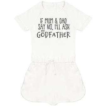 Se mamma e papà dicono di no, io apos;ll Chiedere il mio Padrino Baby Playsuit