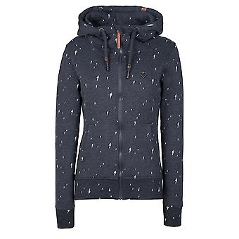 Alife and Kickin sporty women's sweat jacket Yasmin Sweat Jacket moonless AOP Size M-XL