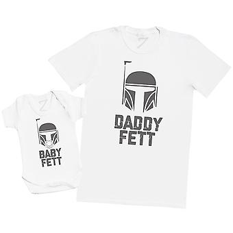 Baby Fett & Daddy Fett - Mens T Shirt & Baby Bodysuit