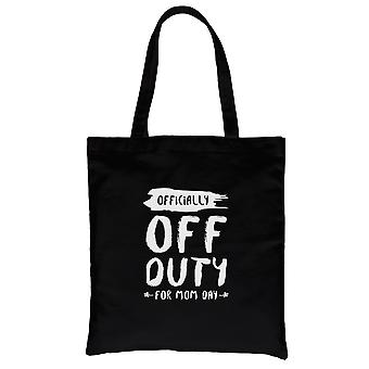 Off duty mamma dag svart Heavy Cotton lerret bag søt mamma gave
