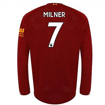 2019-2020 Liverpool Home Long Sleeve Shirt (Milner 7)
