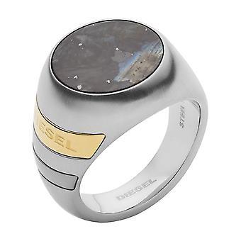 Diesel ring DX1190040-mannen grijs labradoriet zilver staal