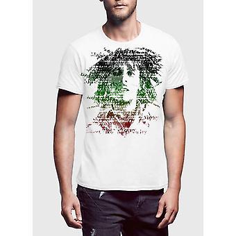 Bob marley amplificato gli uomini profondità nera mezza manica t-shirt