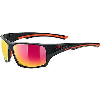 Uvex Sportstyle 222 Pola Black Mat Red Mirror Red Polarized