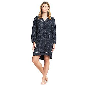 Féraud 3191066-11998 Mujeres's Couture Smokey Azul Algodón Sleep Camisa Nighty