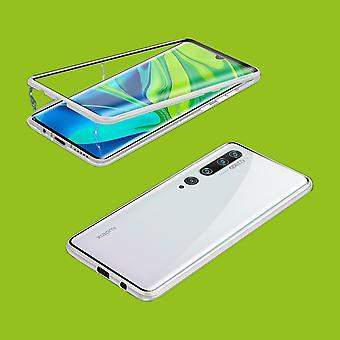 Kaksipuolinen 360 asteen magneetti/lasi kotelo kotelo puhelimen kotelo puskuri hopea Xiaomi mi Huomautus 10/Huomautus 10 Pro