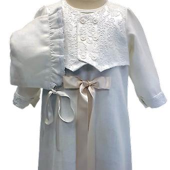 Christening Dress Grace Of Sweden, With West And Dophätta, Off With Bow