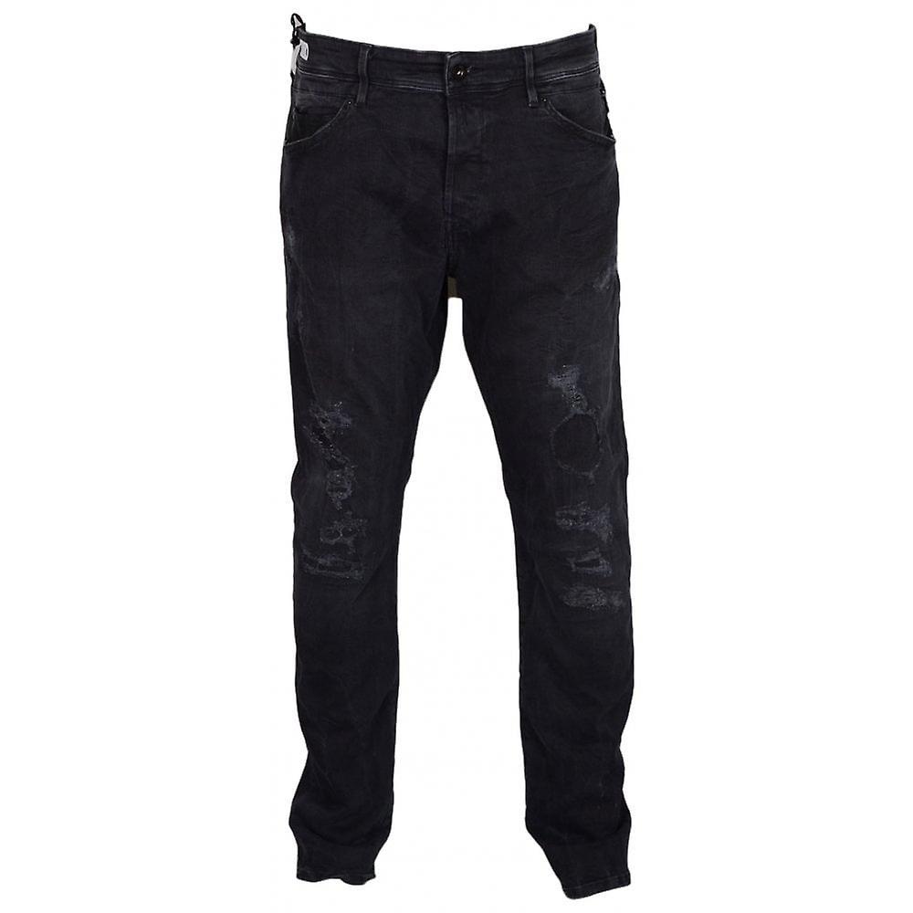 Maestro de relecture Stretch gris déchiré Regular Fit Jeans bKNgX8