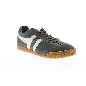 Gola Harrier Nylon  Mens Green Lace Up Low Top Sneakers Shoes