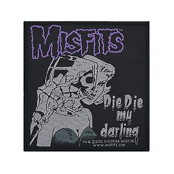 The Misfits sterven sterven mijn lieveling geweven Patch