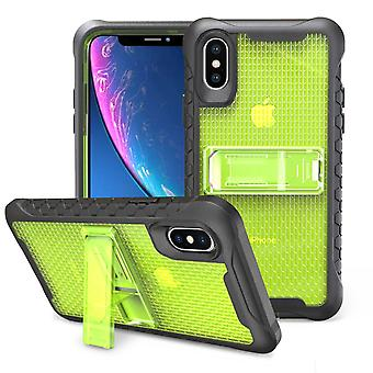 Yellow Honeycomb For iPhone XR Case,Armour Phone Cover,KickStand