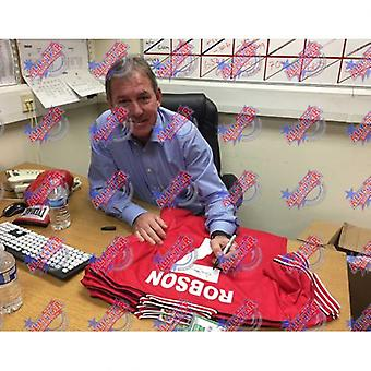 Manchester United Robson signert skjorte