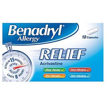 Benadryl Allergi Relief & #150; 12 Kapsler