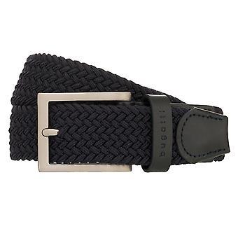 bugatti bälte mäns bälte textilbälte Stretch Belt Marinblå/Blå 8511