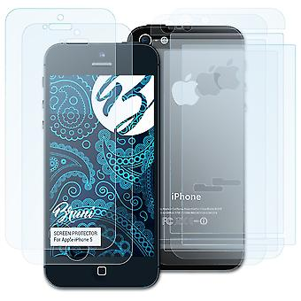 Bruni 2x Screen Protector compatibel met Apple iPhone 5 Beschermende film