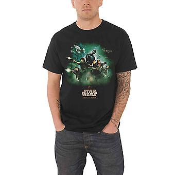 Star Wars T Shirt Rogue One Rebels Poster new Official Mens Black