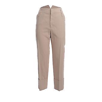 Brunello Cucinelli Mh131p7027c7552 Women's Beige Cotton Pants