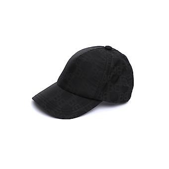 Balmain Th1a044i543eap Hommes-apos;s Black Nylon Hat