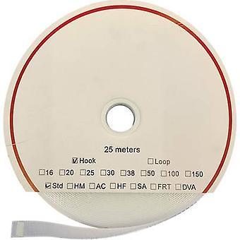 FASTECH® T0101600000125 Koukku- ja silmukkanauha ommellasilmukka (L x W) 25000 mm x 16 mm Valkoinen 25 m