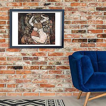 Egon Schiele - Frau mit Kind Poster Print Giclee