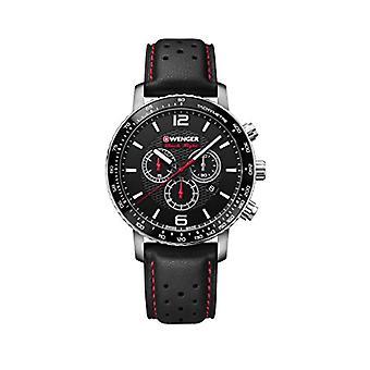Wenger Unisex Quartz Watch with leather band 01.1843.101
