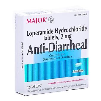 Major anti-diarrheal, caplets, 12 ea
