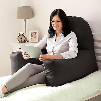 Marine schwarz Baumwolle Bett Lesen Bum Tasche Kissen Arm Rest zurück Unterstützung Kissen Rest Liege