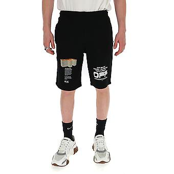 Off-white Omci006r20e300041001 Men's Black Cotton Shorts