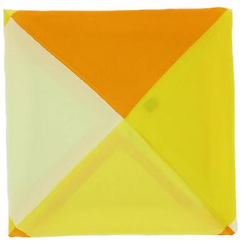 Michelsons av London fyrvägs silke Handherchief - gul