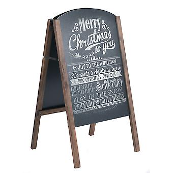 A-Board Frame Pavement Sign Free Standing Floor Chalkboard Cafe Shop Pub Board