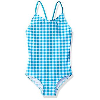 Kanu Surf Girls' Toddler Chloe Beach Sport 1-Piece Swimsuit, Lilly Aqua Check...