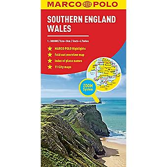 Southern England and Wales Marco Polo Map by Marco Polo - 97838297557