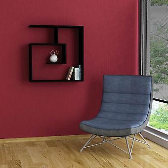 Laby Półka w kolorze czarnym w melaminie 75x22x75 cm