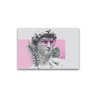 David Sculptutre Med Briller Plakat -Bilde av Shutterstock