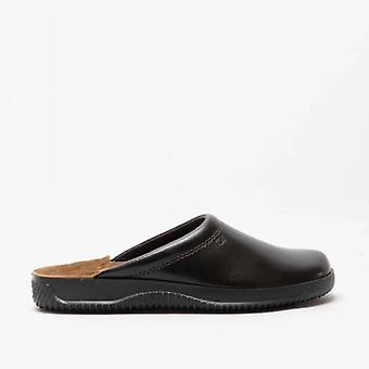 Rohde 2772 Mens Leather Mule Wide Fit Slippers Mocca
