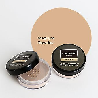 Keromask Medium Mineral Rich Finishing Powder | Helps Covers Vitiligo, Rosacea, Scars, Tattoos | 20g