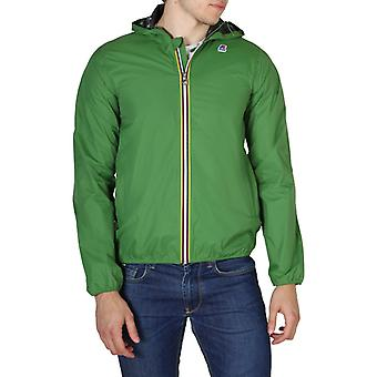 Man polyamide long bomber jacket coat kw89175