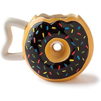 Donut tazza tazza di caffè tazza di ciambella con foro scherzo articolo 340 ml