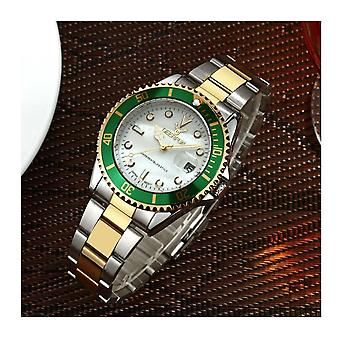 Genuine Deerfun Homage Watch White Green Gold Silver Date Watches Top Quality