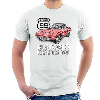 Route 66 Historic Sports Car Men's T-Shirt
