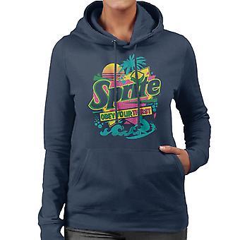 Sprite Retro 90s Beach Obey Your Thirst Women's Hooded Sweatshirt