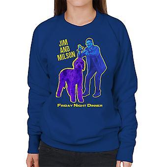 Friday Night Dinner Jim och Wilson Blå och lila kvinnor & s Sweatshirt